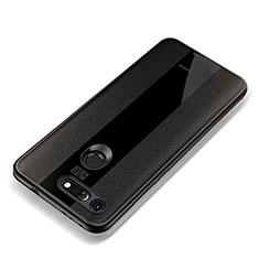 Silikon Hülle Handyhülle Gummi Schutzhülle Leder Tasche für Huawei Honor V20 Schwarz