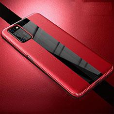 Silikon Hülle Handyhülle Gummi Schutzhülle Leder Tasche für Huawei Honor V30 5G Rot