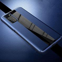 Silikon Hülle Handyhülle Gummi Schutzhülle Leder Tasche für Huawei Honor View 30 5G Blau