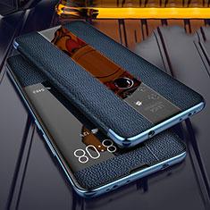 Silikon Hülle Handyhülle Gummi Schutzhülle Leder Tasche für Huawei Mate 20 Blau