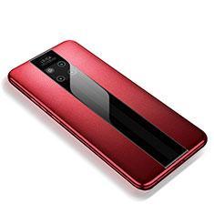 Silikon Hülle Handyhülle Gummi Schutzhülle Leder Tasche für Huawei Mate 20 RS Rot