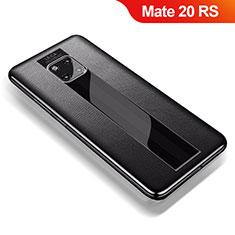 Silikon Hülle Handyhülle Gummi Schutzhülle Leder Tasche für Huawei Mate 20 RS Schwarz