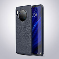 Silikon Hülle Handyhülle Gummi Schutzhülle Leder Tasche für Huawei Mate 30 Blau
