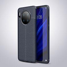 Silikon Hülle Handyhülle Gummi Schutzhülle Leder Tasche für Huawei Mate 30 Pro 5G Blau