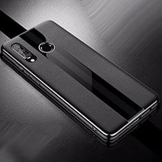 Silikon Hülle Handyhülle Gummi Schutzhülle Leder Tasche für Huawei Nova 4e Schwarz