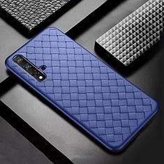 Silikon Hülle Handyhülle Gummi Schutzhülle Leder Tasche für Huawei Nova 5 Blau