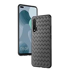Silikon Hülle Handyhülle Gummi Schutzhülle Leder Tasche für Huawei Nova 6 5G Schwarz