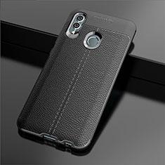 Silikon Hülle Handyhülle Gummi Schutzhülle Leder Tasche für Huawei P Smart (2019) Schwarz