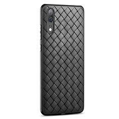 Silikon Hülle Handyhülle Gummi Schutzhülle Leder Tasche für Huawei P20 Schwarz
