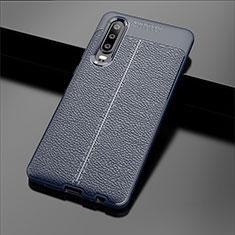 Silikon Hülle Handyhülle Gummi Schutzhülle Leder Tasche für Huawei P30 Blau