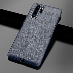 Silikon Hülle Handyhülle Gummi Schutzhülle Leder Tasche für Huawei P30 Pro Blau