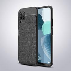 Silikon Hülle Handyhülle Gummi Schutzhülle Leder Tasche für Huawei P40 Lite Schwarz