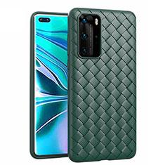 Silikon Hülle Handyhülle Gummi Schutzhülle Leder Tasche für Huawei P40 Pro Grün
