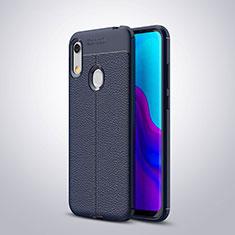Silikon Hülle Handyhülle Gummi Schutzhülle Leder Tasche für Huawei Y6 Prime (2019) Blau
