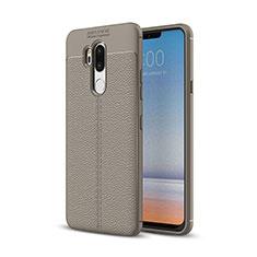Silikon Hülle Handyhülle Gummi Schutzhülle Leder Tasche für LG G7 Grau