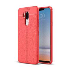 Silikon Hülle Handyhülle Gummi Schutzhülle Leder Tasche für LG G7 Rot