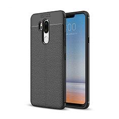 Silikon Hülle Handyhülle Gummi Schutzhülle Leder Tasche für LG G7 Schwarz
