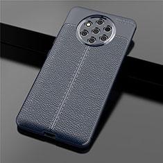 Silikon Hülle Handyhülle Gummi Schutzhülle Leder Tasche für Nokia 9 PureView Blau
