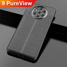 Silikon Hülle Handyhülle Gummi Schutzhülle Leder Tasche für Nokia 9 PureView Schwarz