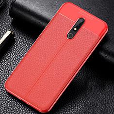 Silikon Hülle Handyhülle Gummi Schutzhülle Leder Tasche für Nokia X5 Rot