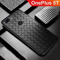 Silikon Hülle Handyhülle Gummi Schutzhülle Leder Tasche für OnePlus 5T A5010 Schwarz