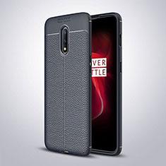 Silikon Hülle Handyhülle Gummi Schutzhülle Leder Tasche für OnePlus 7 Blau