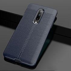 Silikon Hülle Handyhülle Gummi Schutzhülle Leder Tasche für OnePlus 7 Pro Blau