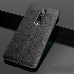 Silikon Hülle Handyhülle Gummi Schutzhülle Leder Tasche für OnePlus 7 Pro Schwarz