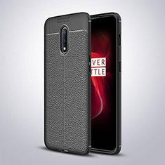 Silikon Hülle Handyhülle Gummi Schutzhülle Leder Tasche für OnePlus 7 Schwarz