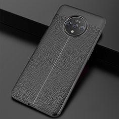Silikon Hülle Handyhülle Gummi Schutzhülle Leder Tasche für OnePlus 7T Schwarz