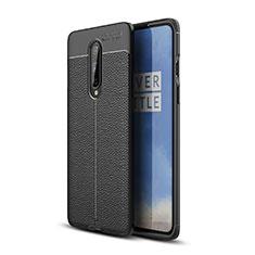 Silikon Hülle Handyhülle Gummi Schutzhülle Leder Tasche für OnePlus 8 Schwarz