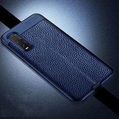 Silikon Hülle Handyhülle Gummi Schutzhülle Leder Tasche für Oppo Find X2 Blau