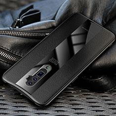 Silikon Hülle Handyhülle Gummi Schutzhülle Leder Tasche für Oppo Reno 10X Zoom Schwarz