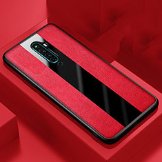 Silikon Hülle Handyhülle Gummi Schutzhülle Leder Tasche für Oppo Reno2 Z Rot