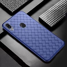 Silikon Hülle Handyhülle Gummi Schutzhülle Leder Tasche für Samsung Galaxy A30 Blau