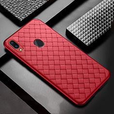 Silikon Hülle Handyhülle Gummi Schutzhülle Leder Tasche für Samsung Galaxy A30 Rot