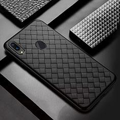 Silikon Hülle Handyhülle Gummi Schutzhülle Leder Tasche für Samsung Galaxy A30 Schwarz