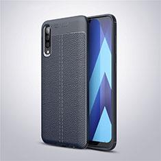 Silikon Hülle Handyhülle Gummi Schutzhülle Leder Tasche für Samsung Galaxy A30S Blau
