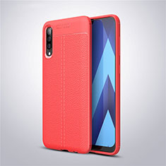 Silikon Hülle Handyhülle Gummi Schutzhülle Leder Tasche für Samsung Galaxy A50 Rot