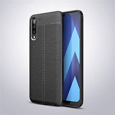 Silikon Hülle Handyhülle Gummi Schutzhülle Leder Tasche für Samsung Galaxy A50 Schwarz