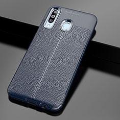 Silikon Hülle Handyhülle Gummi Schutzhülle Leder Tasche für Samsung Galaxy A60 Blau