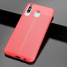 Silikon Hülle Handyhülle Gummi Schutzhülle Leder Tasche für Samsung Galaxy A60 Rot
