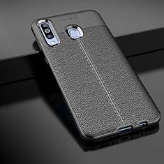 Silikon Hülle Handyhülle Gummi Schutzhülle Leder Tasche für Samsung Galaxy A60 Schwarz