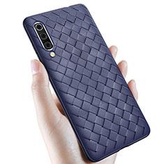 Silikon Hülle Handyhülle Gummi Schutzhülle Leder Tasche für Samsung Galaxy A70 Blau