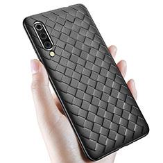 Silikon Hülle Handyhülle Gummi Schutzhülle Leder Tasche für Samsung Galaxy A70 Schwarz