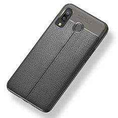 Silikon Hülle Handyhülle Gummi Schutzhülle Leder Tasche für Samsung Galaxy A8 Star Grau