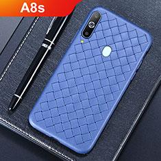 Silikon Hülle Handyhülle Gummi Schutzhülle Leder Tasche für Samsung Galaxy A8s SM-G8870 Blau