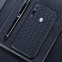Silikon Hülle Handyhülle Gummi Schutzhülle Leder Tasche für Samsung Galaxy A8s SM-G8870 Schwarz