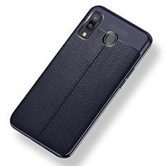 Silikon Hülle Handyhülle Gummi Schutzhülle Leder Tasche für Samsung Galaxy A9 Star SM-G8850 Blau