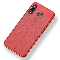Silikon Hülle Handyhülle Gummi Schutzhülle Leder Tasche für Samsung Galaxy A9 Star SM-G8850 Rot